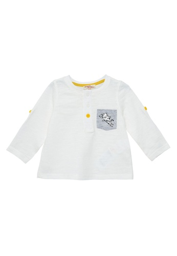 Du Pareil Au Même (DPAM) white Pocket Leopard T-Shirt D8DFAKADC69195GS_1