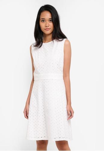 ESPRIT white Light Woven Midi Dress A9AB7AA9F9A6FEGS_1