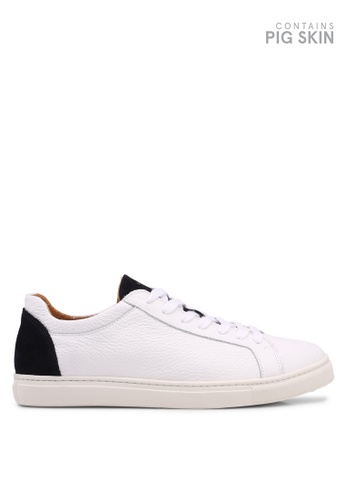 Selected Homme white David Contrast Trainers 2B4FCSHB710FA5GS_1