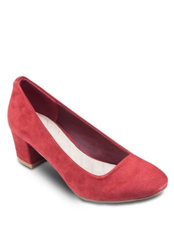 Galiazalora 台灣 麂皮粗跟鞋, 女鞋, 鞋