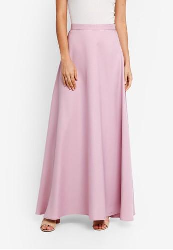Soonaru pink Flare Skirt 55A31AA295129EGS_1
