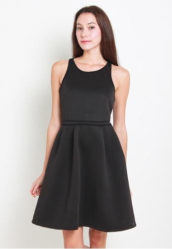 Leline Style black Reyn Little Black Dress LE802AA83XBKSG_1