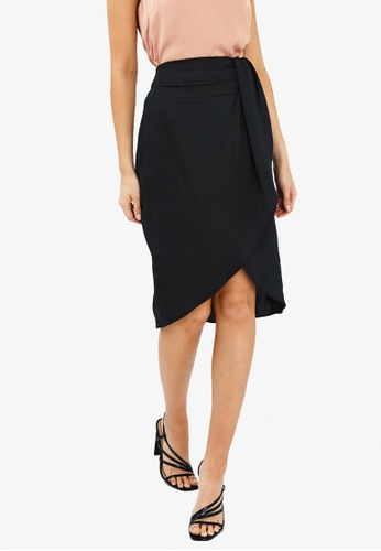 FORCAST black Kylie Crossover Skirt DF7F0AAE5D0CAAGS_1