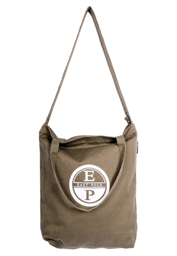 East Pole green Unisex Two-way Crossbody Cotton and Linen-blend tote bag 839CEACA34FCDCGS_1