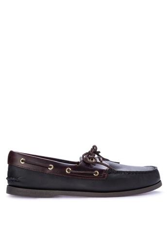 Sperry black A/O 2-Eye Boat Shoes SP132SH0IJXUPH_1