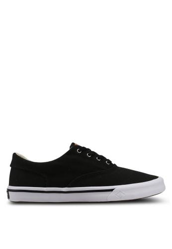 Sperry black Striper II CVO Saturated Sneakers 8A29FSH7A7852EGS_1