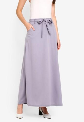 BYN grey Long Skirt CCA23AA2940CDDGS_1