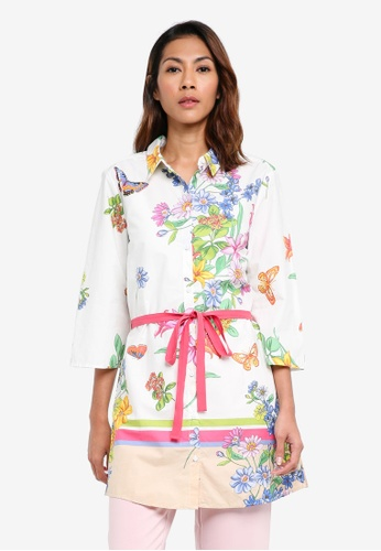Buy United Colors of Benetton Floral Shirt Dress  8238a7468ef