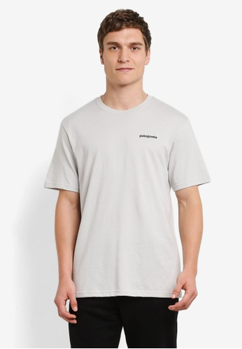 Patagonia grey Fitz Roy Trout Cotton T-Shirt PA549AA0RQCXMY_1