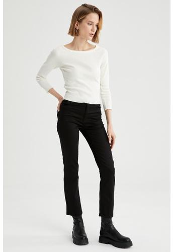 DeFacto beige Woman Knitted Long Sleeve T-Shirt 15D5BAA7E9EFC8GS_1