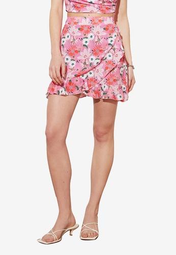 Trendyol multi Printed Frill Skirt A707DAA8C22D5BGS_1
