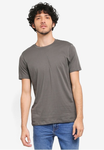 MANGO Man grey Essential Cotton T-Shirt MA449AA0T1EVMY_1