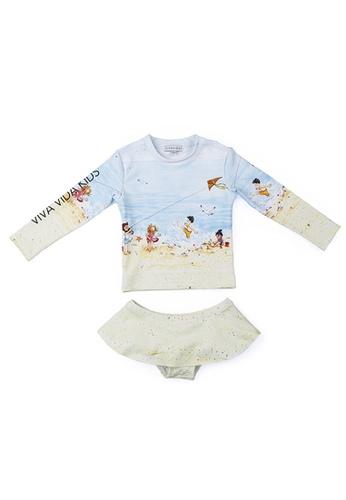 Viva Vida Kids blue Swimwear 2Pcs LS Beaches 5B810KAC482F8EGS_1