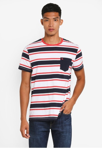 Jack Wills white Cardell Stripe T-Shirt 62BAEAA99575CDGS_1