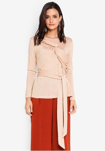 Lubna beige Tied Up Top 54609AAA16918AGS_1