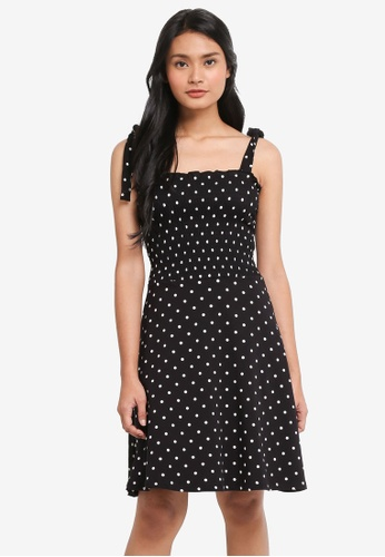 Dorothy Perkins 白色 Black/Ivory Spot Sundress 49673AAC850383GS_1