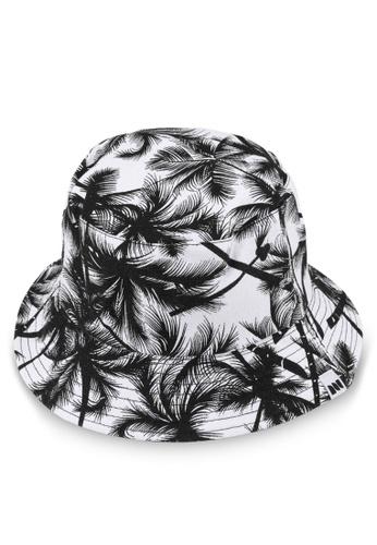 Milliot & Co. black Coconut Tree Bucket Hat 5D4B5AC8B9A91FGS_1