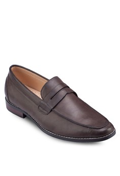 Faux Brushed Leather Loafers