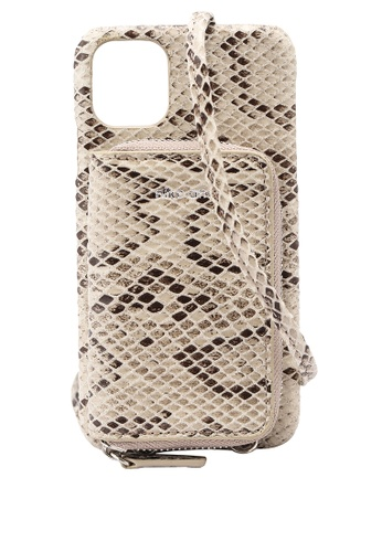 niko and ... beige Strapped Iphone Case 3D9B8AC9C26129GS_1