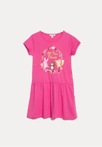 Bossini pink Bossini Kids Girl Dress Lt Fuchsia (84363609039) 99EEDKADF4632CGS_1