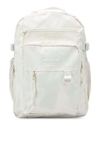 Bagstationz beige Multi-Compartment Large Backpack 4EB06AC07C7A48GS_1