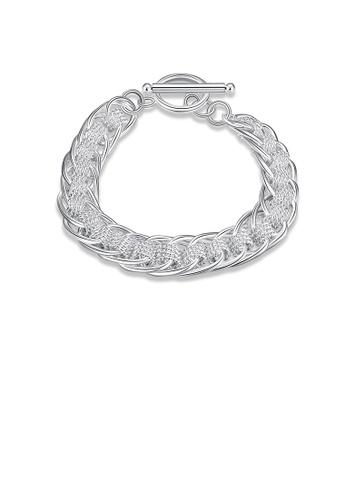 Glamorousky silver Fashion Elegant Geometric Bracelet BEC6DAC56F1050GS_1