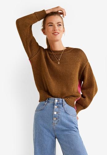 Mango multi Bicolor Cotton Sweater F1A51AAC2E9685GS_1