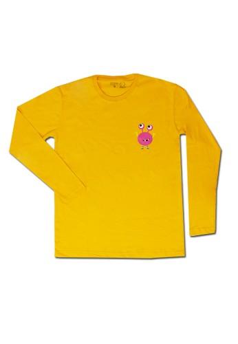 Pop Kidswear orange Pop Kidswear Monster Squad Orange Adult (Long Sleeves)Tee - kaos monster series 40EFAAAFED8CA3GS_1