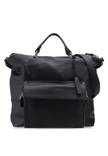 ESPRIT black Faux Leather Tote Bag B6866AC0ADE5ACGS_1