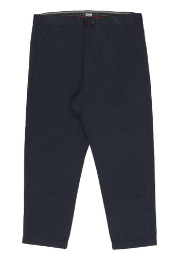 izzue navy Cropped tapered pants 83753AA15B2365GS_1