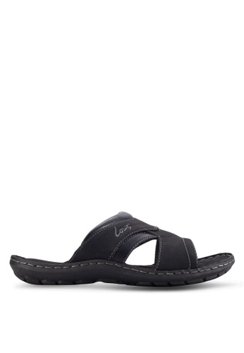 Louis Cuppers black Casual Sandals LO977SH56AZZMY_1