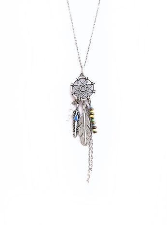 Shop Trinkets For Keeps Dream Catcher Boho Necklace Online On ZALORA Cool Dream Catcher Necklace Philippines