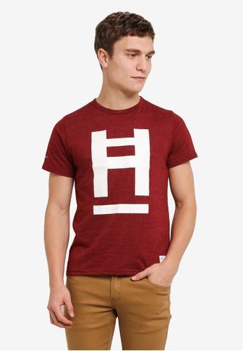 High Cultured 紅色 圓領 T卹 HI002AA0S1UOMY_1