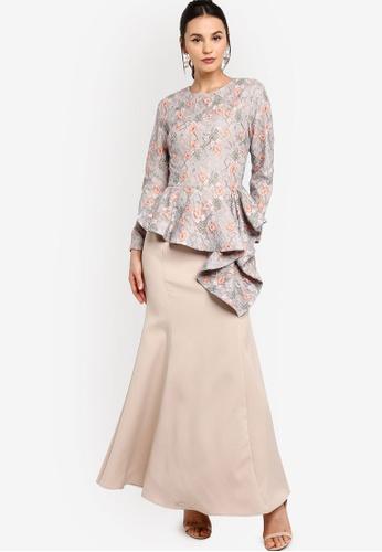 Zalia green Lace Asymmetrical Peplum Dress 06FBDAA0868B27GS_1