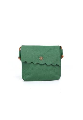 Shu Talk green DMR Touch Scalloped Cutie Shoulder Bag 6EC67ACD068F69GS_1