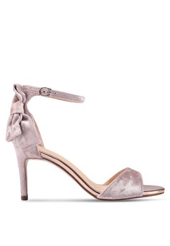 Something Borrowed pink Velvet Sandal Heels 6CA49SH47C645DGS_1