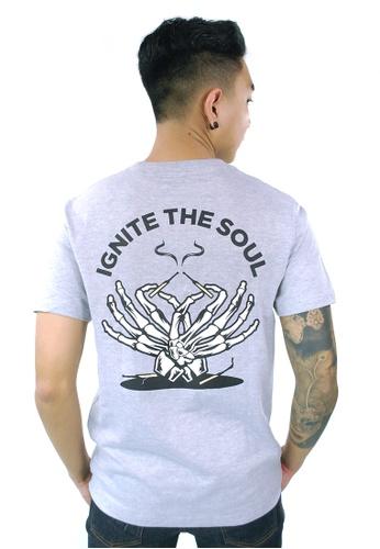 Praise grey Ignite The Soul Graphic Tee PR067AA61GPISG_1