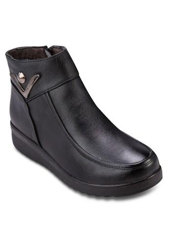 厚底低筒esprit台灣outlet靴, 女鞋, 靴子