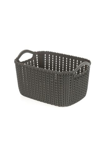 HOUZE HOUZE - Braided Storage Basket with Handle (Small: 23.5x16.5x13.5cm) - Coffee 4D265HL4BFDE08GS_1