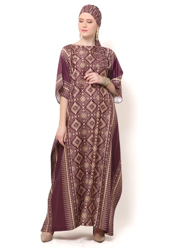 Kanzi by liza yahya red Kanzi Exclusive Short Sleeve Songket Kaftan AB200AA269A26DGS_1