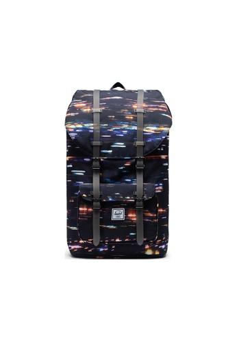 Herschel black Herschel Little America Backpacks - Night Lights 847B0AC91B7D96GS_1