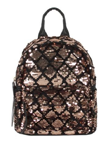 Adkidz Adkidz Sparkly Gold and Black Sequin Backpack ADDF5KC4D9904BGS_1