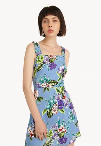 Pomelo blue Mini Tropical Tank Dress - Blue 2A09DAA4561E81GS_1