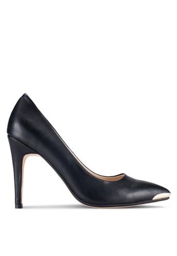 ZALORA 黑色 尖頭高跟鞋 52513SHA01B36AGS_1
