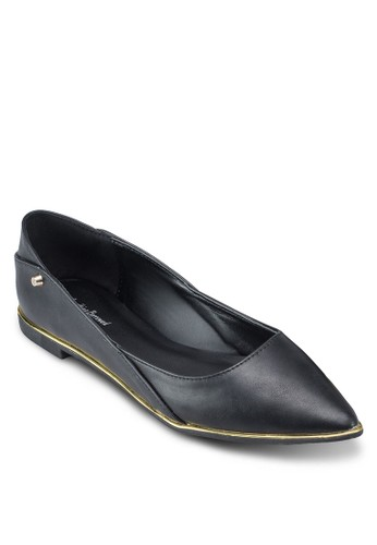 Twin esprit part timeStud Pointed Ballerina Flats, 女鞋, 鞋