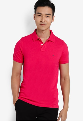 Tommy Hilfiger red SLIM FIT POLO S/S SF TO861AA29FPEMY_1