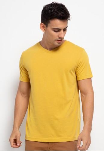 Tolliver orange V Neck Basic Short Sleeve Tee 39FCDAA762082BGS_1