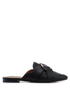 c4a55d635 River Island black Eddie Backless Hardwear Knot Loafers D8D5CSH58601F8GS 1