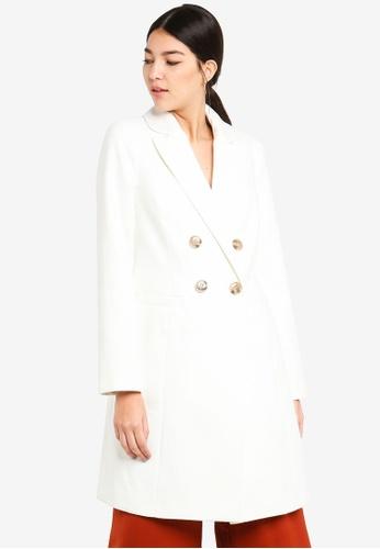 Miss Selfridge 白色 White Smart Coat 9C97EAA223E655GS_1