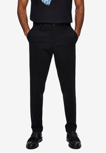 Selected Homme black Slim-Jim Flex Trousers D10D4AA8958E3DGS_1